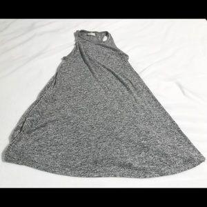 Abercrombie & Fitch Grey Knit Flowy Tank Top